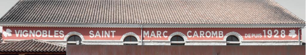 Fronton de la cave Saint-Marc